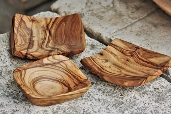 olive wood handmade unique small platters