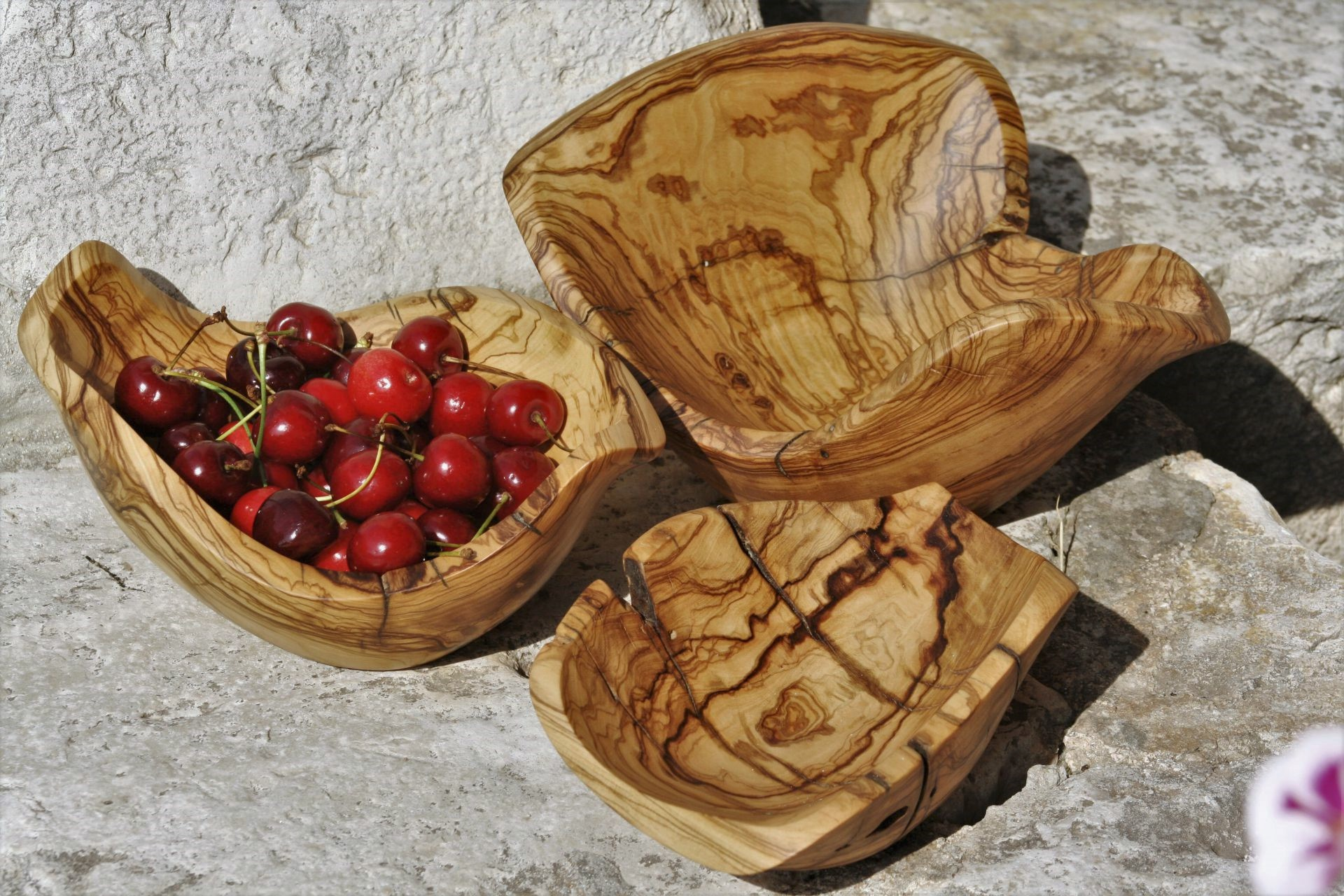 olive wood handmade unique various bowls