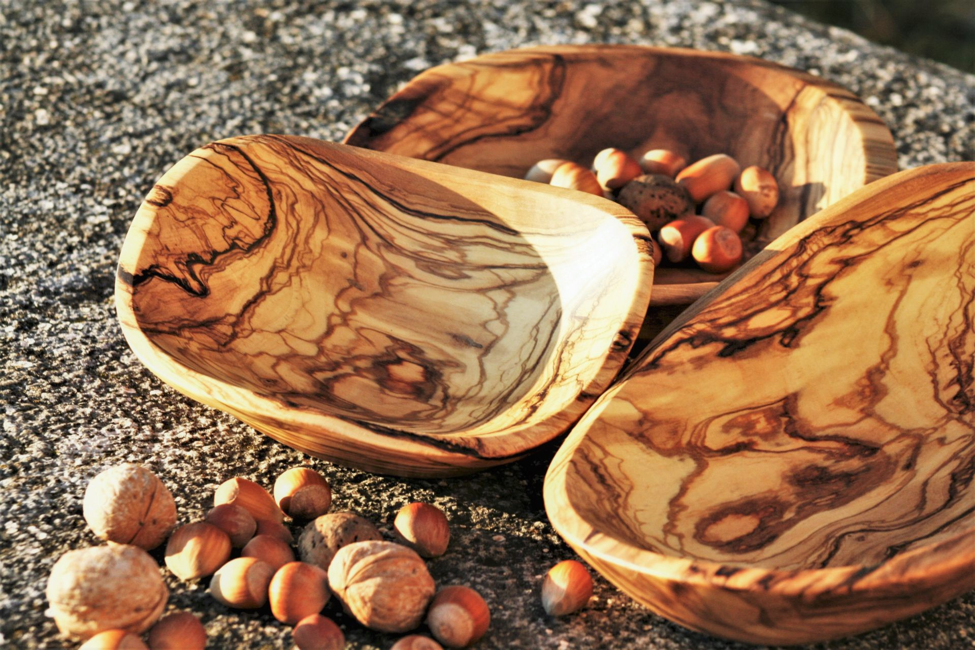 olive wood small bowls handmade unique