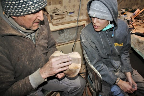 wood sanding unique handmade sanisio artist design handwork fine sanding