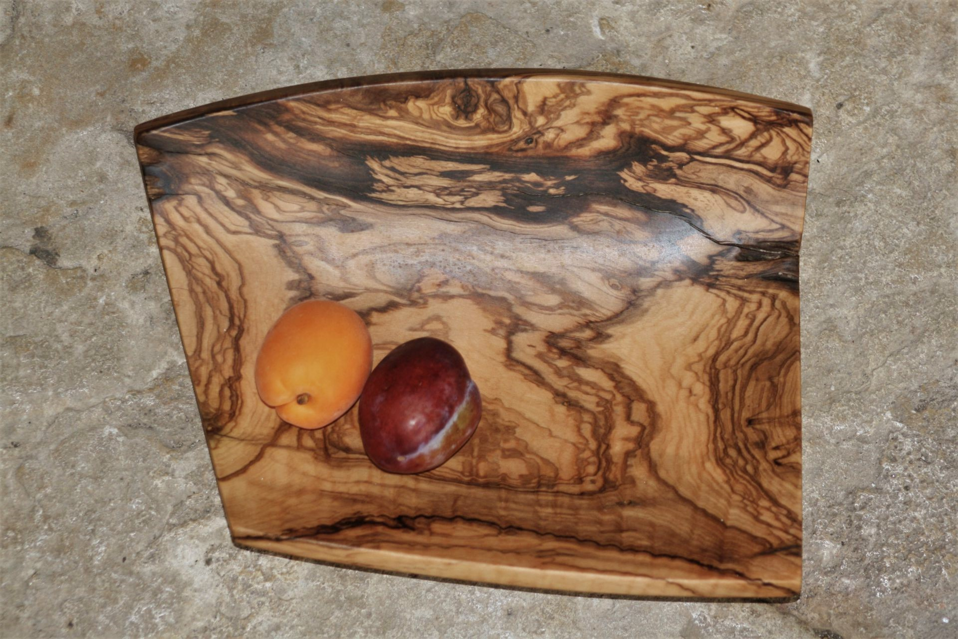 olive wood platter handmade unique