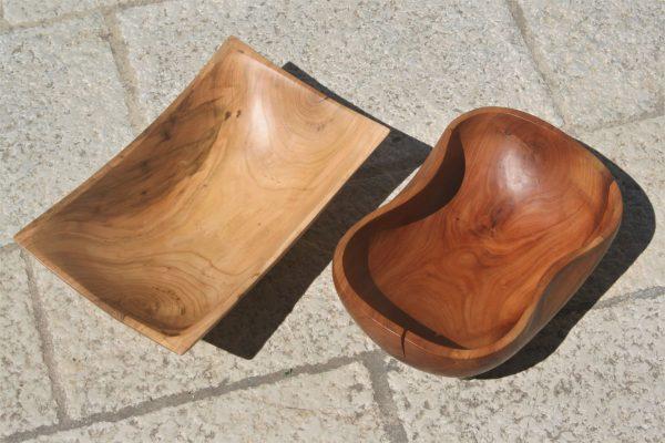 apricot wood bowls color change unique handmade sanisio artist design home detail