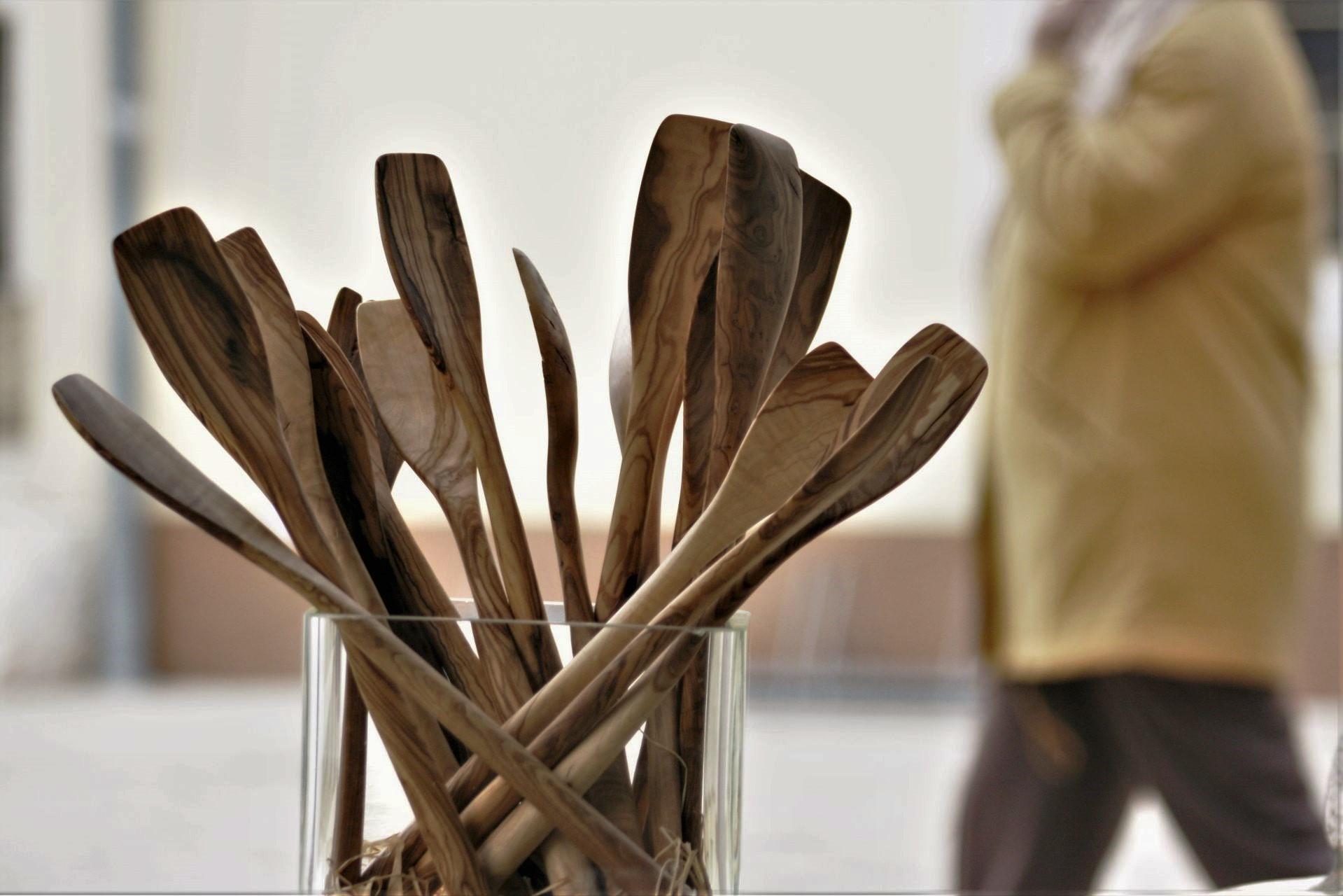 wooden kitchen accessories made from favorite mediterranean wood