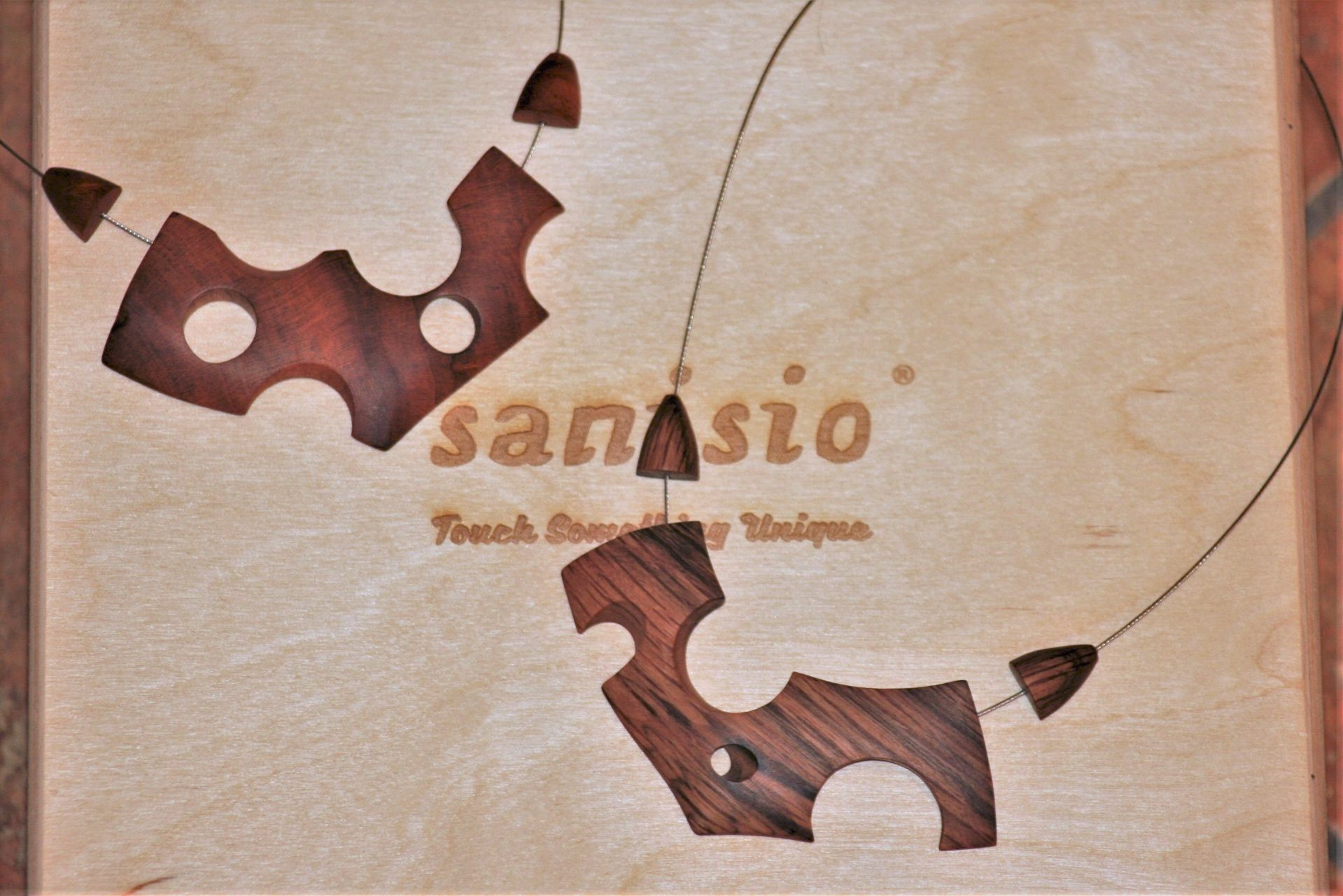wooden necklaces sanisio unique design