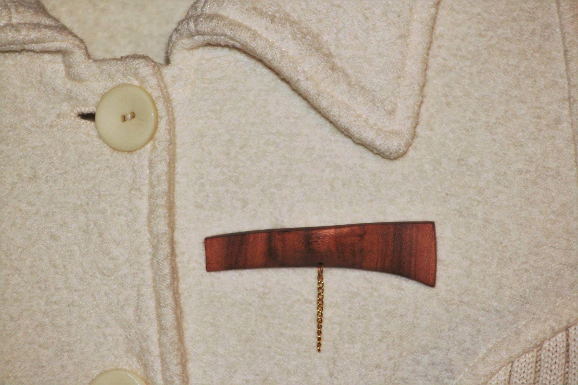 apricot wood jewellery brooch unique handmade sanisio artist design classic style jewelry