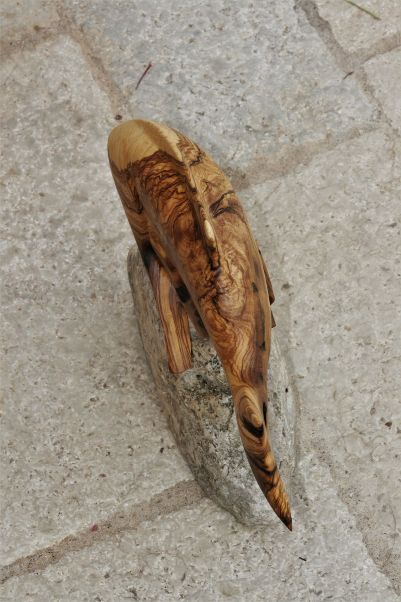 wood sculptures art olive wood sea stone handmade unique artist design Fish Mediterranean inspiration