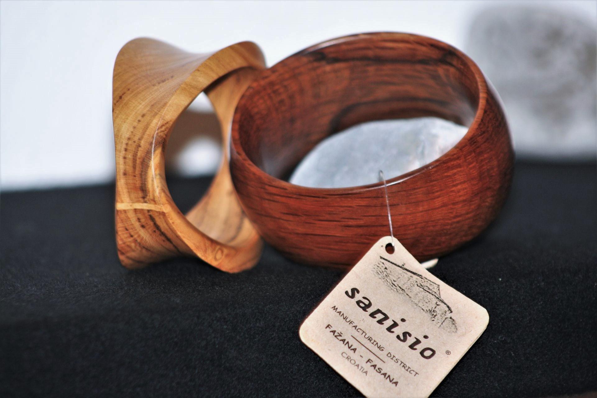 olive wood jewellery sanisio bracelets apricot holm oak