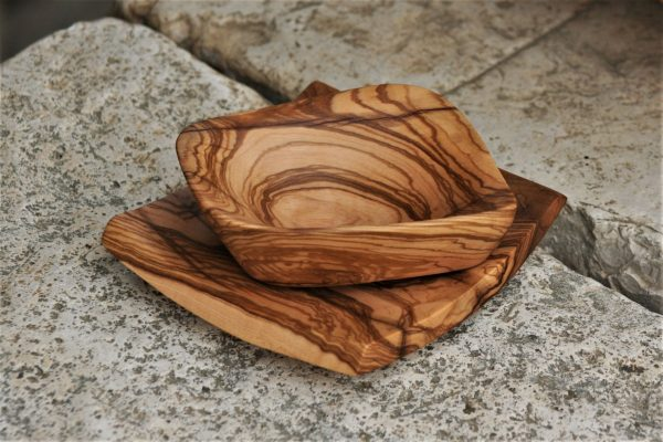wooden kitchen accessories olive wood plate & bowl