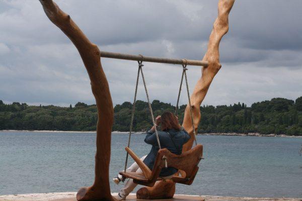 public areas Brijuni national park wooden swing holm oak wood Tito's White Villa