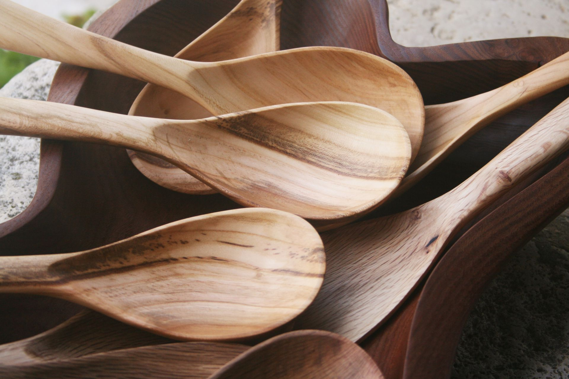 apricot wood spoons ladles unique handmade sanisio artist design home detail kitchen accessories