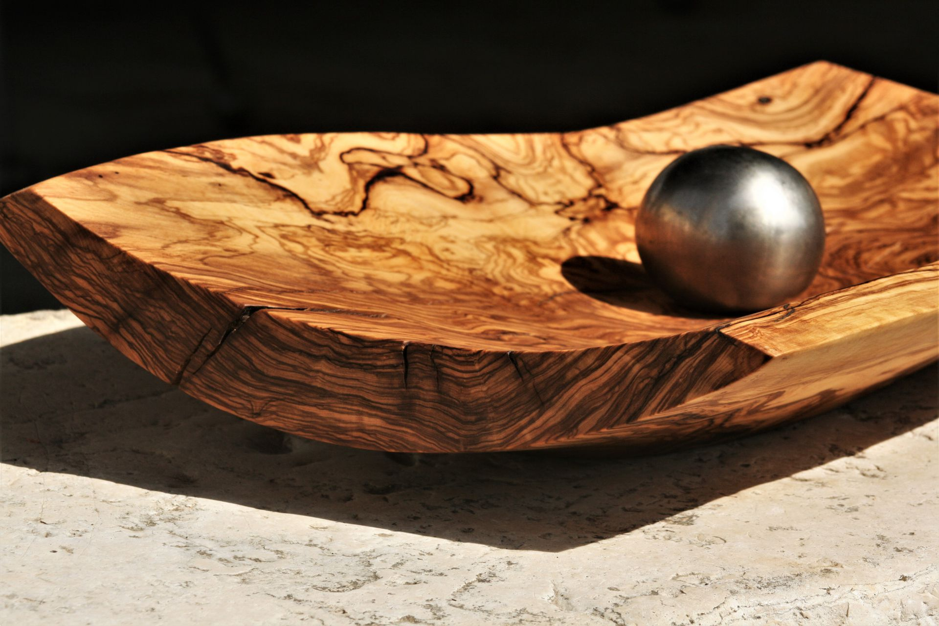 wooden bowls original handmade Mediterranean olive wood unique artist design fruit bowl platter extra large