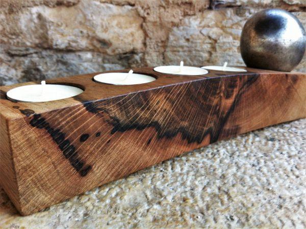 wooden home details holm oak wood advent candle holder