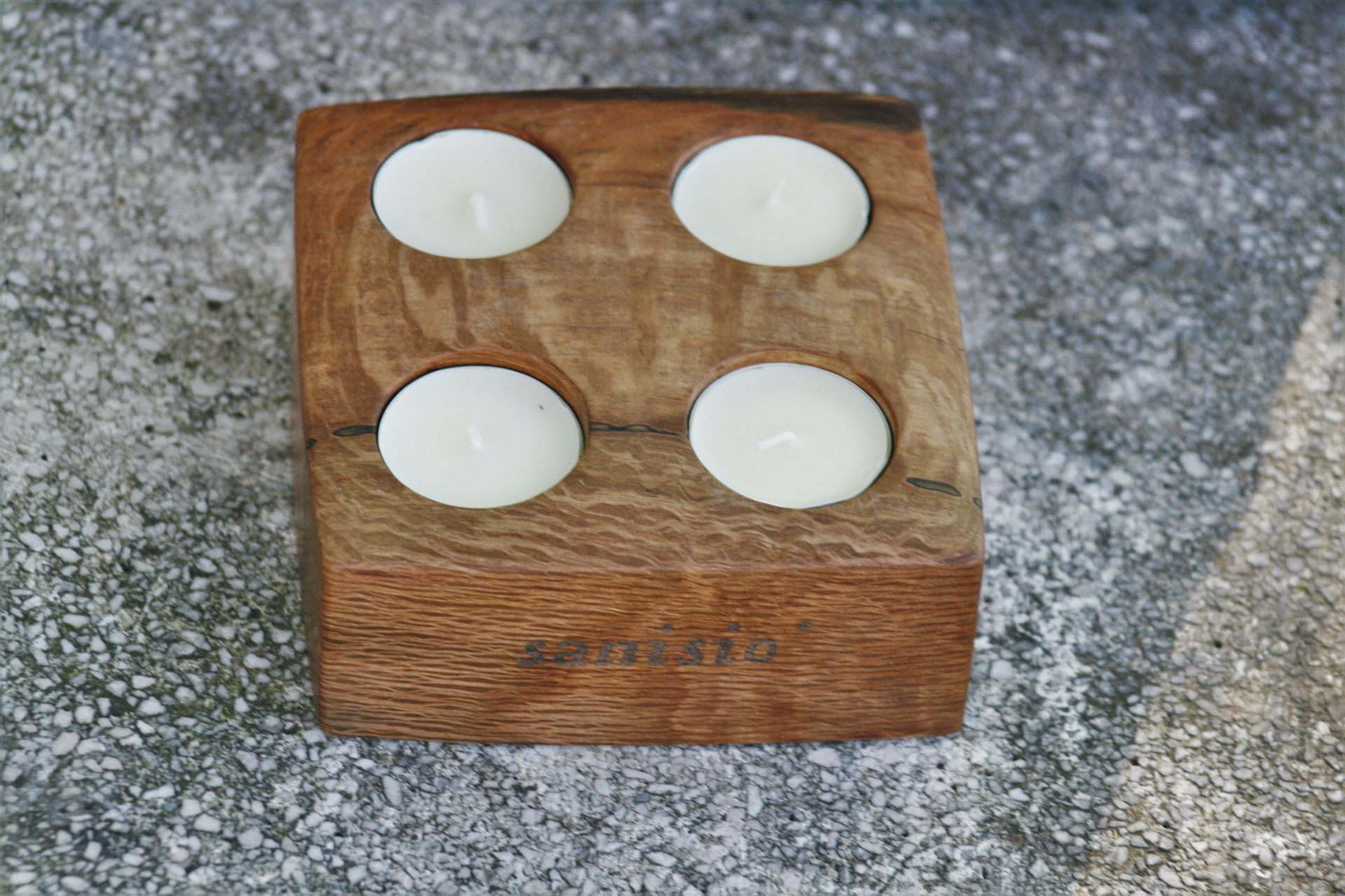 sacral wooden design sanisio unique handmade candle holder Advent black holm oak
