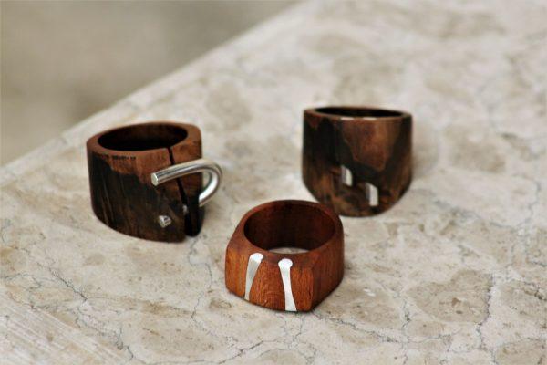 olive wood jewellery sanisio handmade rings various wood