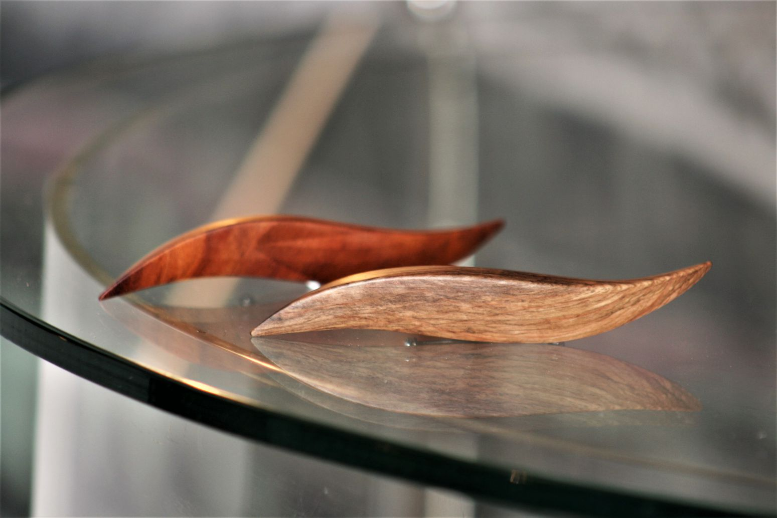 wooden brooches jewellery Lyre Mediterranean holm oak cherry plum wood unique handmade sanisio artist design jewelry