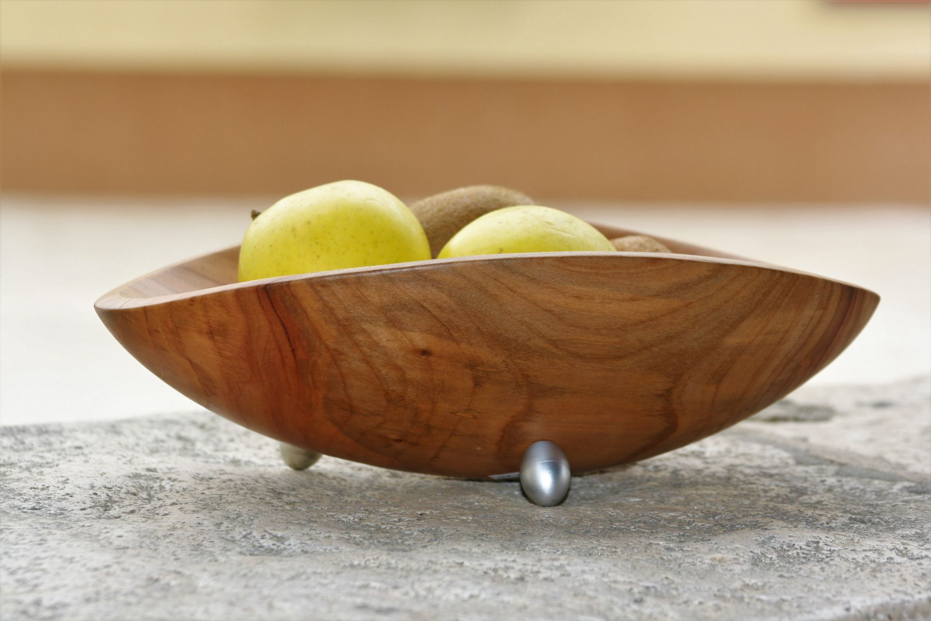 cherry wood bowl unique handmade sanisio artist design home detail