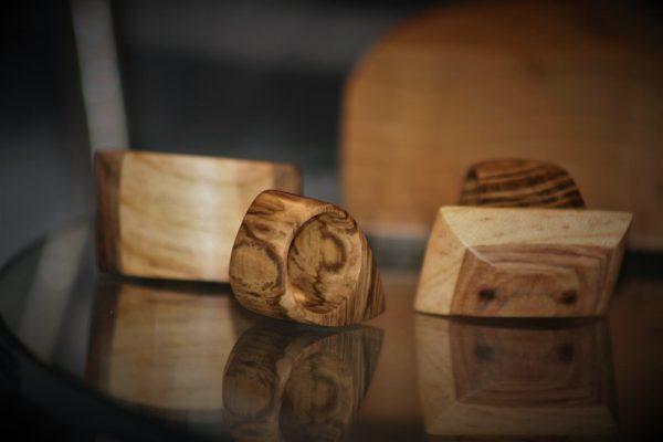 olive wood jewellery sanisio rings holm oak