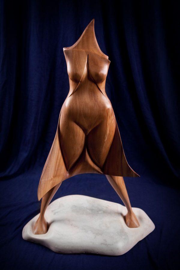 wood sculptures art handmade unique artist design Under the Muse