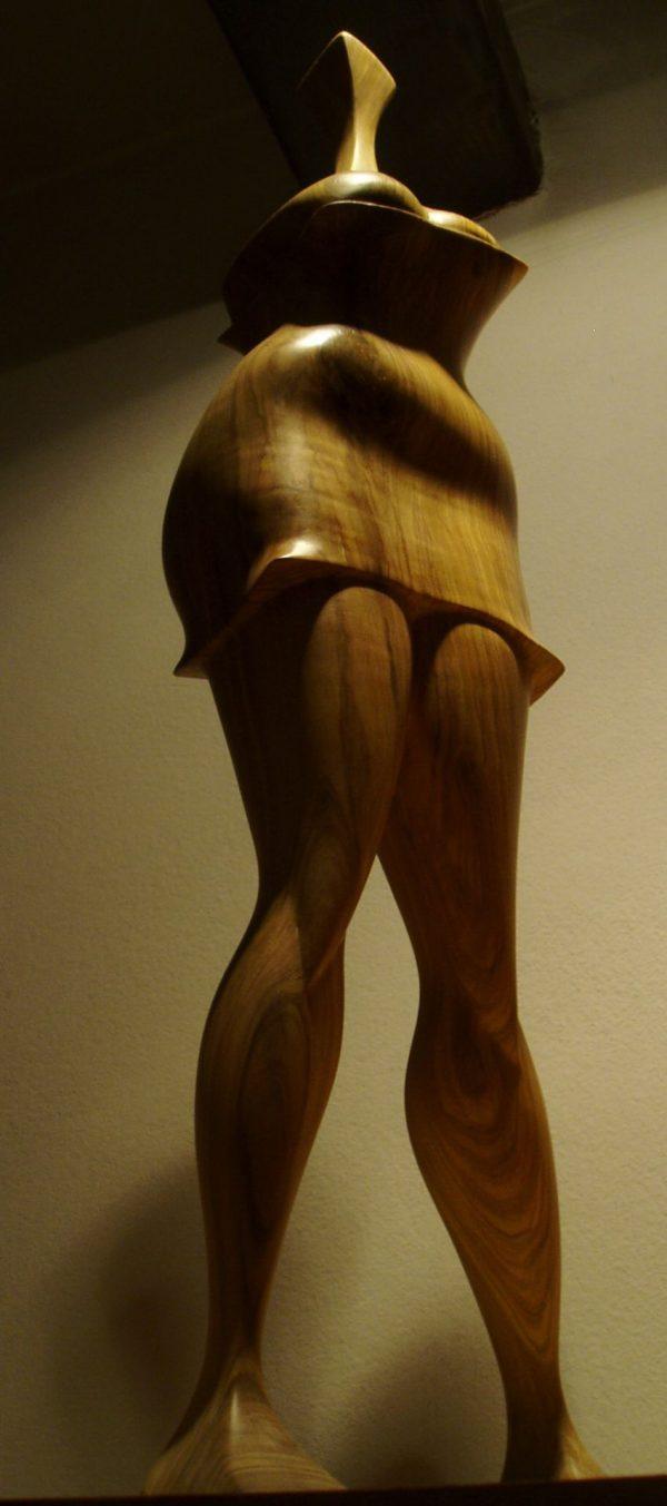 wood sculptures art expression olive wood handmade unique artist design Muse