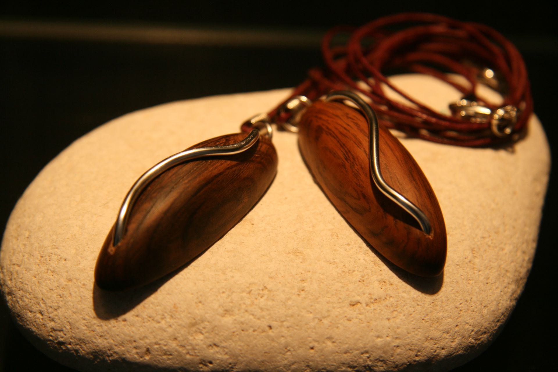wooden necklaces pendants Davina