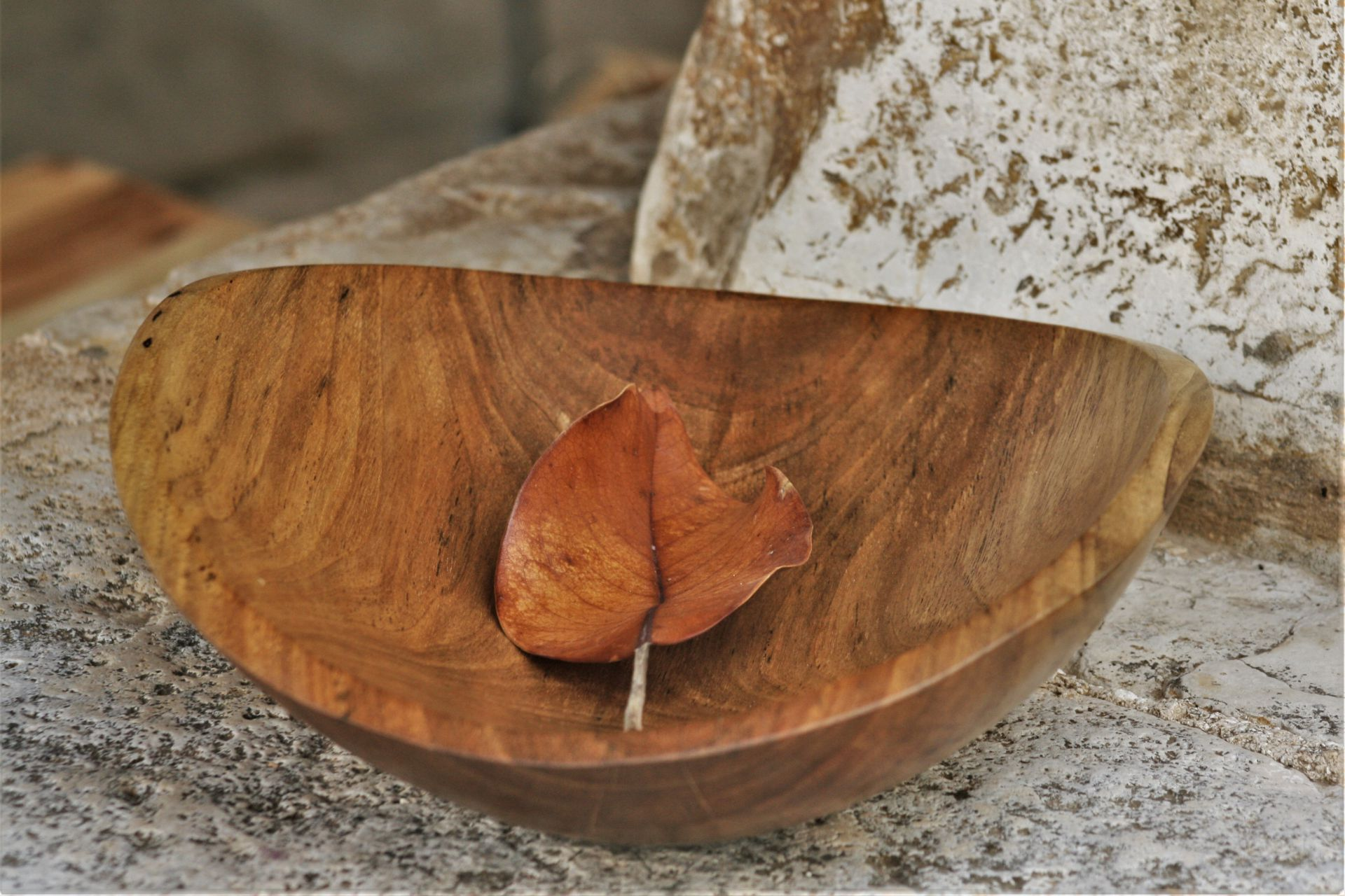 walnut wood bowl small unique handmade sanisio artist design home detail