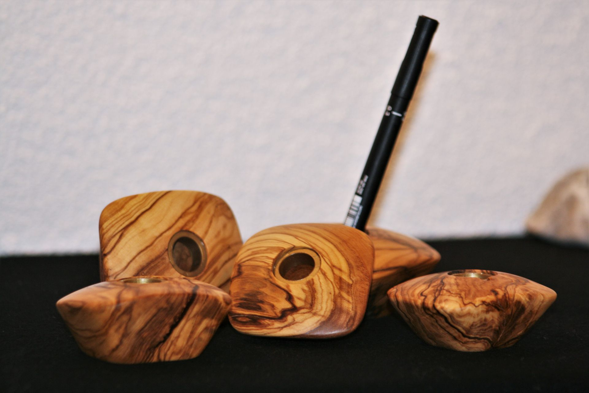 wooden home details olive wood pen holders