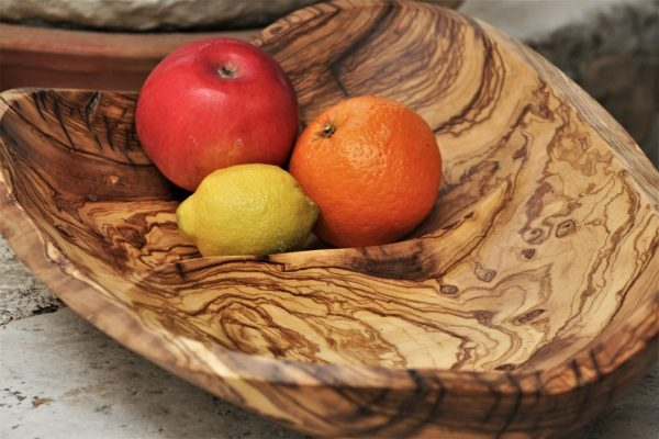 wooden bowls handmade olive wood unique artist design fruit bowl
