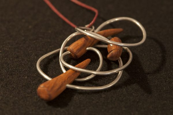 wooden necklaces pendant Nerthus