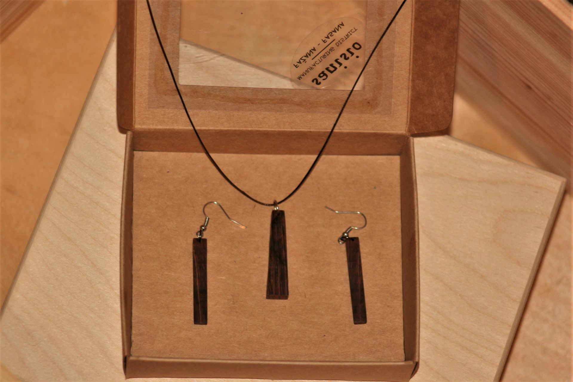 unique wooden jewellery sanisio set holm oak