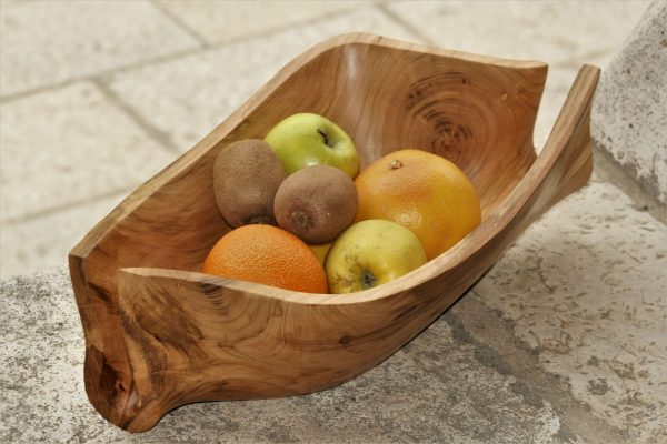 wooden bowls apricot handmade unique artist design fruit bowl handwork original
