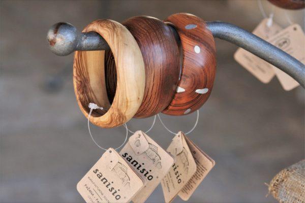 olive wood jewellery sanisio design bracelets various wood