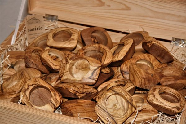 wooden home details olive wood candle holders various sizes
