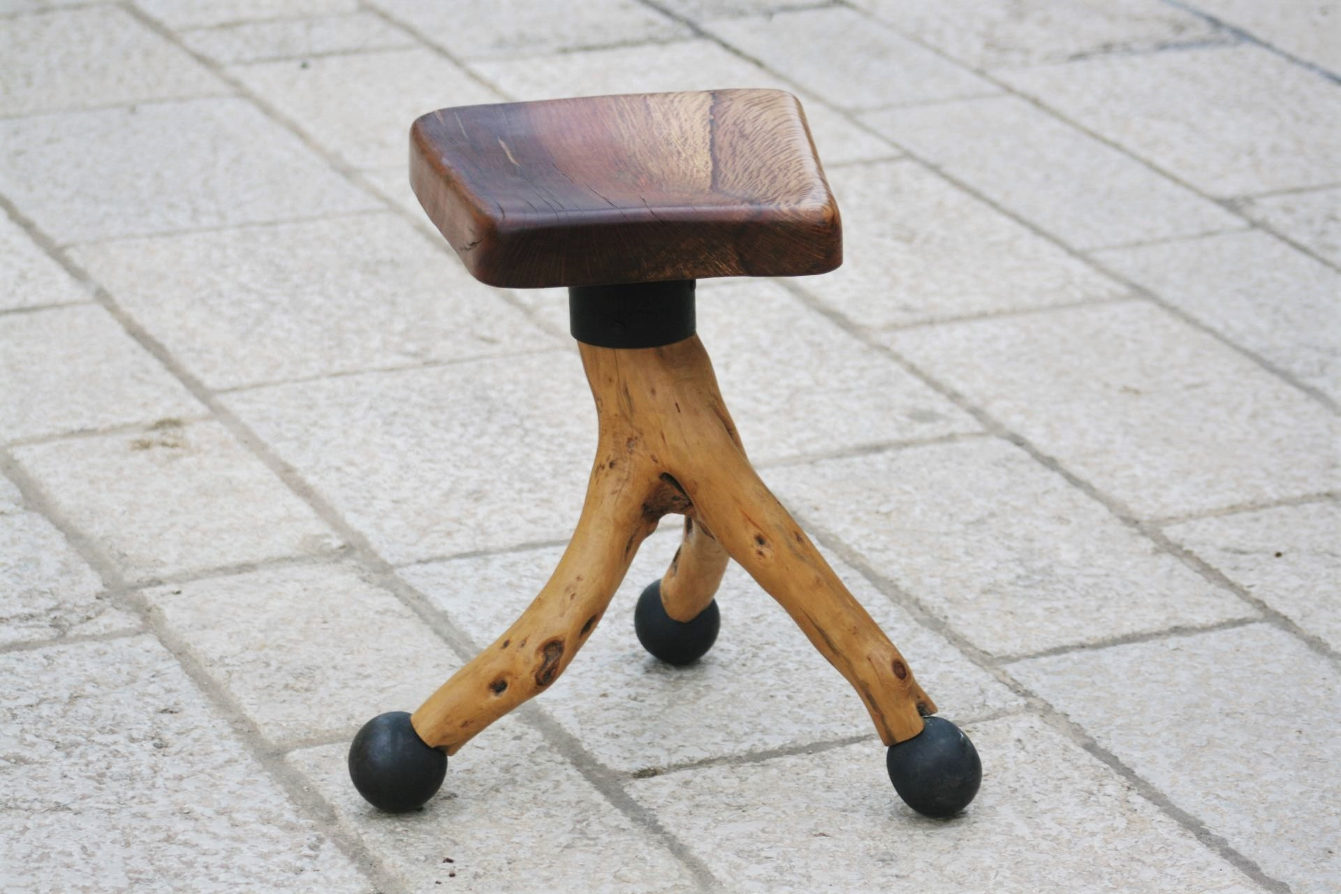 wood interior design art olive wood stool Mediterranean holm oak wood chair handmade unique artist design years old olive wood