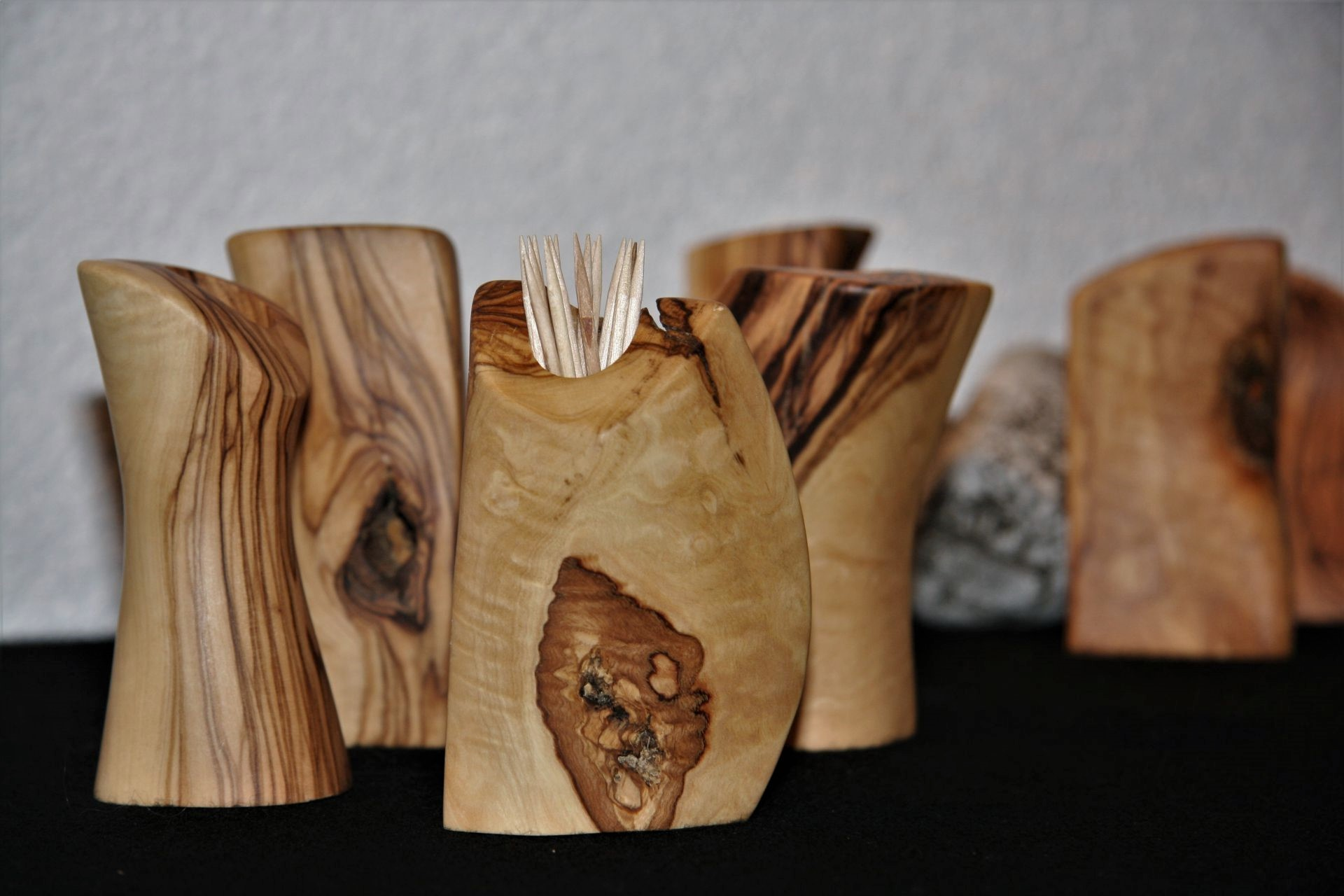 wooden kitchen accessories olive wood toothpick holders