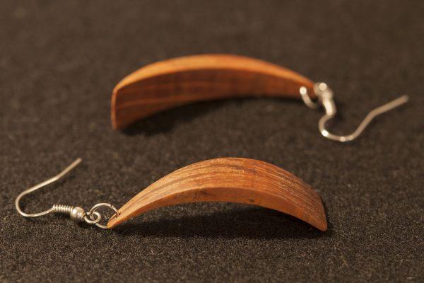 wooden earrings Laelia sanisio holm oak